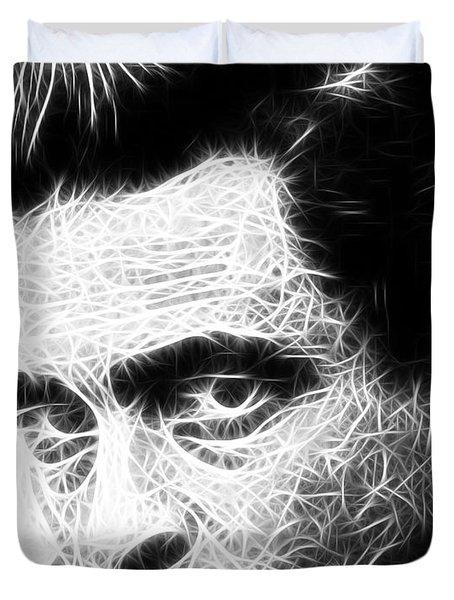 Johnny Cash Duvet Cover by Paul Van Scott