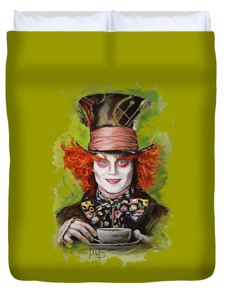 Johnny Depp As Mad Hatter Duvet Cover
