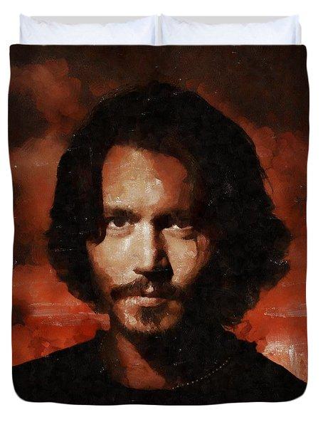 Johnny Depp, Hollywood Legend By Mary Bassett Duvet Cover
