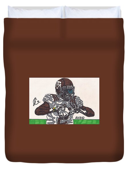 Johnny Manziel 12 Duvet Cover by Jeremiah Colley