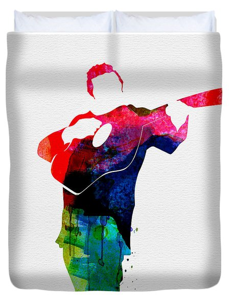 Johnny Watercolor Duvet Cover by Naxart Studio
