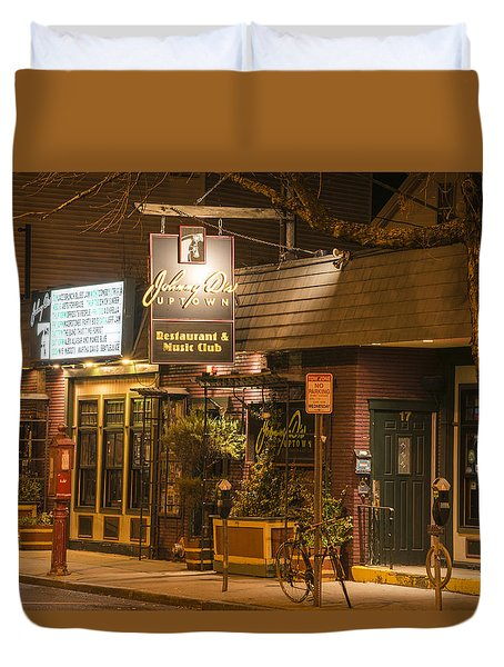 Johnny Ds Music Club In Davis Square Somerville Ma Duvet Cover