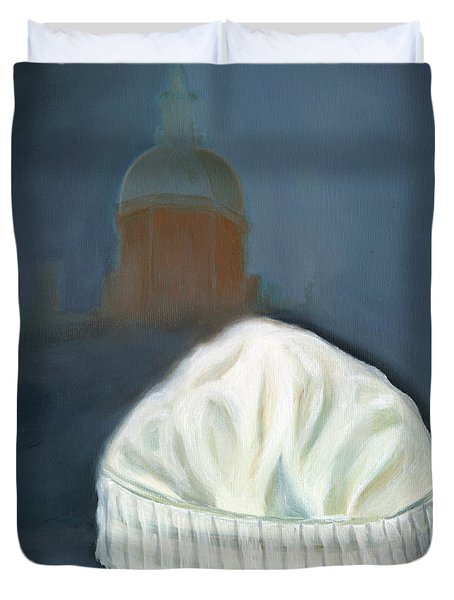 Johns Hopkins University School Of Nursing Duvet Cover by Marlyn Boyd