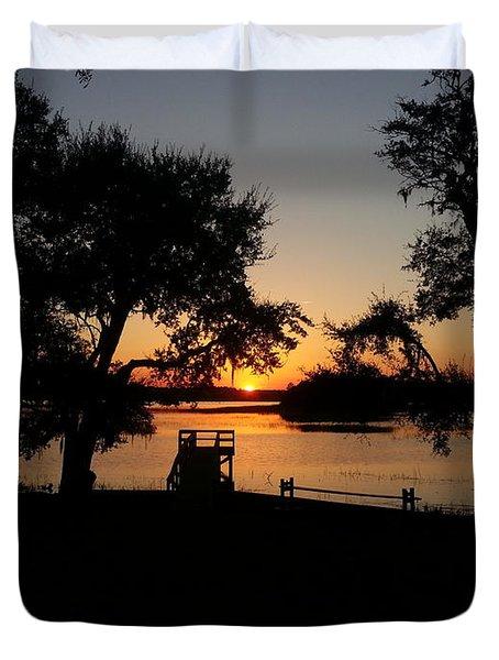 Johns Island Sunset Duvet Cover