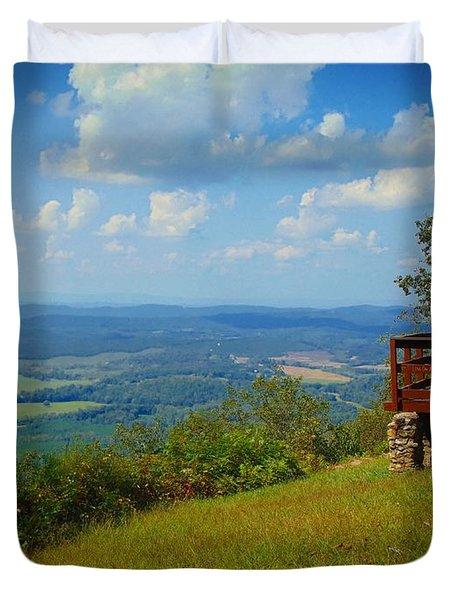 John's Mountain Overlook Duvet Cover