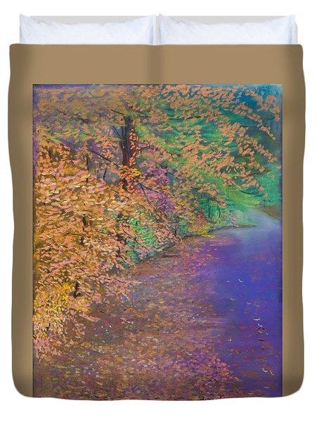 John's Pond In The Fall Duvet Cover