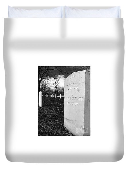 Johnson Island Confederate Stockade Cemetery Duvet Cover