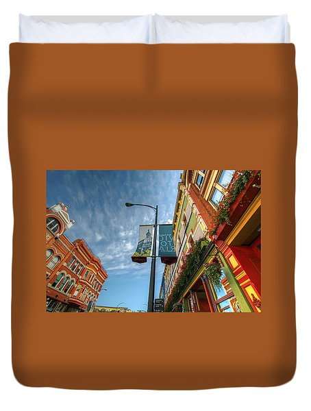 Johnson Street In Victoria B.c. Duvet Cover by David Gn