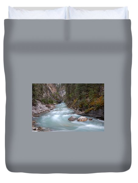 Johnston Canyon In Banff National Park Duvet Cover by RicardMN Photography
