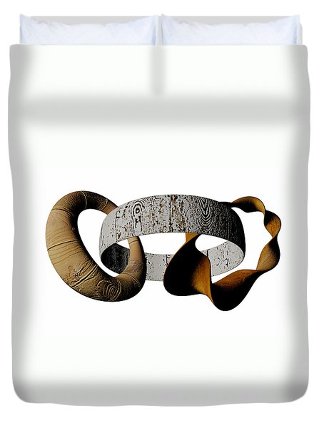 Duvet Cover featuring the sculpture Join Circles by R Muirhead Art