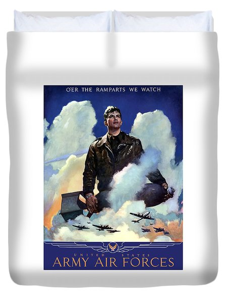 Join The Army Air Forces Duvet Cover by War Is Hell Store