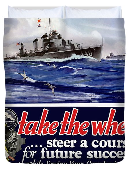 Join The Us Navy - Ww2 Duvet Cover