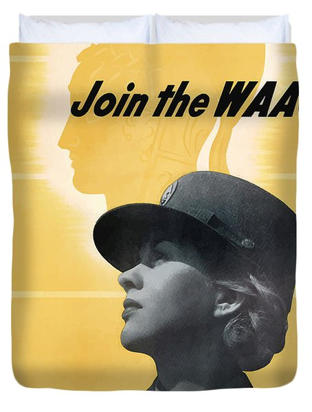 Join The Waac - Women's Army Auxiliary Corps Duvet Cover