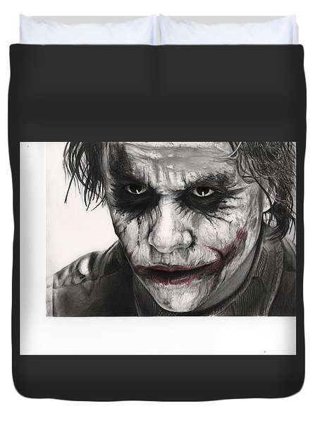 Joker Face Duvet Cover by James Holko