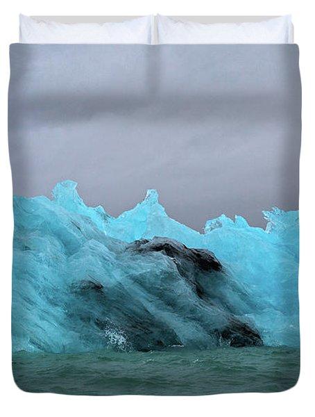 Jokulsarlon Blue Ice Glacier Duvet Cover