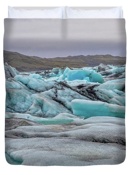 Jokulsarlon Glacier Lagoon Natural Beauties  Duvet Cover