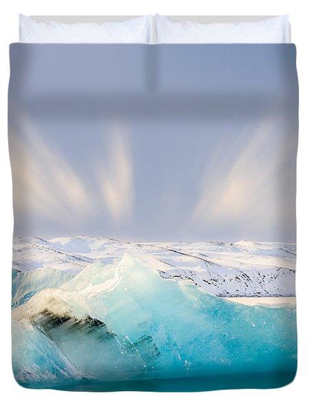 Jokulsarlon Glacier Lagoon Duvet Cover