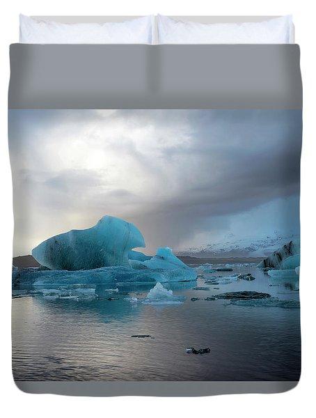 Duvet Cover featuring the photograph Jokulsarlon, The Glacier Lagoon, Iceland 4 by Dubi Roman