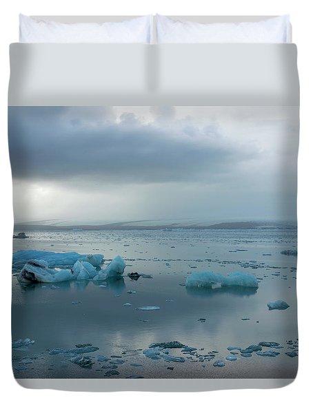 Duvet Cover featuring the photograph Jokulsarlon, The Glacier Lagoon, Iceland 1 by Dubi Roman