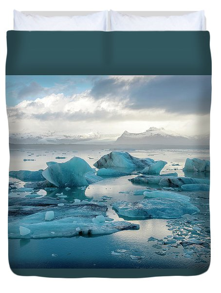 Jokulsarlon, The Glacier Lagoon, Iceland 6 Duvet Cover