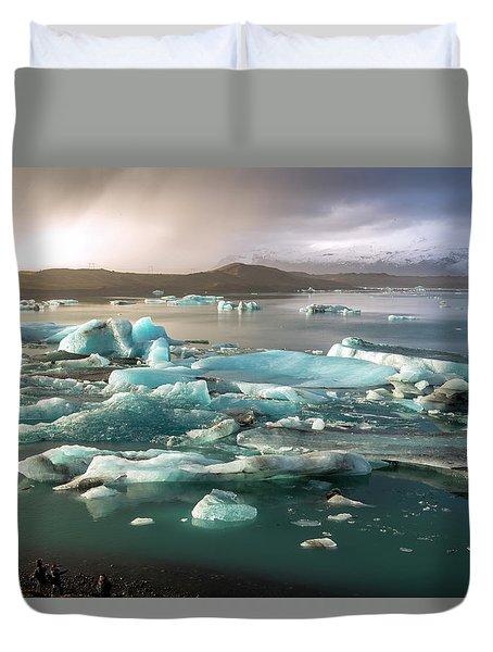 Jokulsarlon The Magnificent Glacier Lagoon, Iceland Duvet Cover