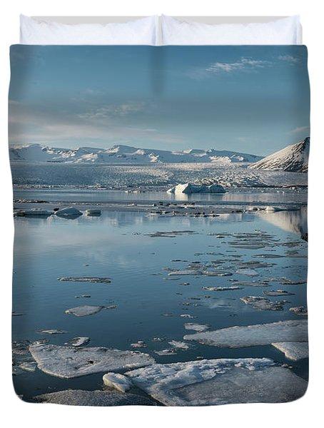 Duvet Cover featuring the photograph Jokulsarlon Ice Lagoon - Iceland by Sandra Bronstein