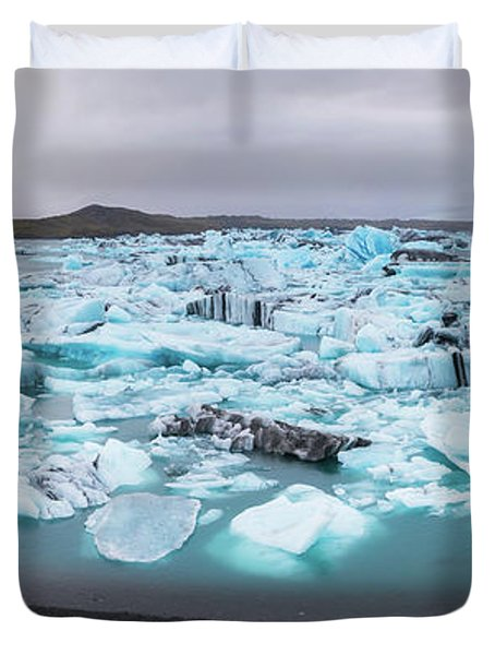 Jokusarlon Panorama  Duvet Cover