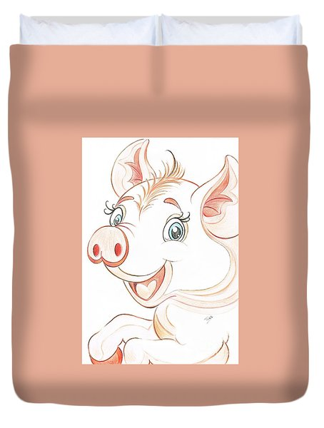 Jolly Miss Piggy Duvet Cover