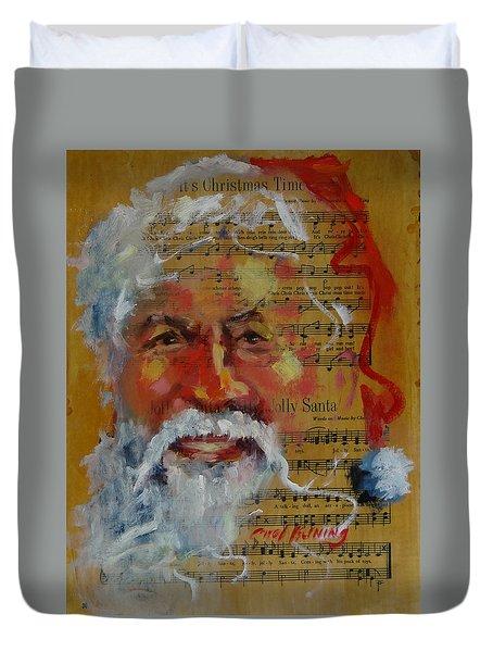 Jolly Santa Duvet Cover