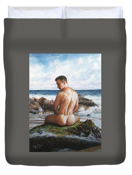 Jon At The Beach  Duvet Cover