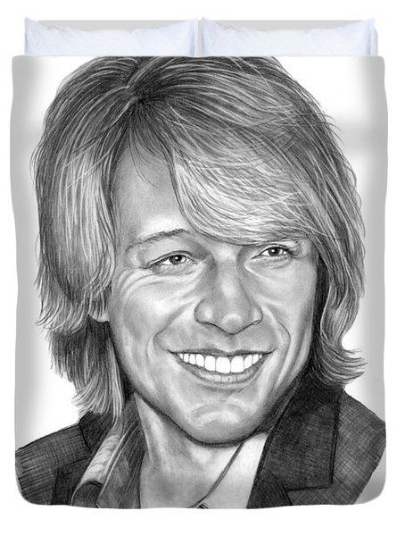 Jon Bon Jovi Duvet Cover by Murphy Elliott