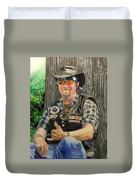 Jon Jones, Army Of Northern Virginia Mechanized Cavalry  Duvet Cover