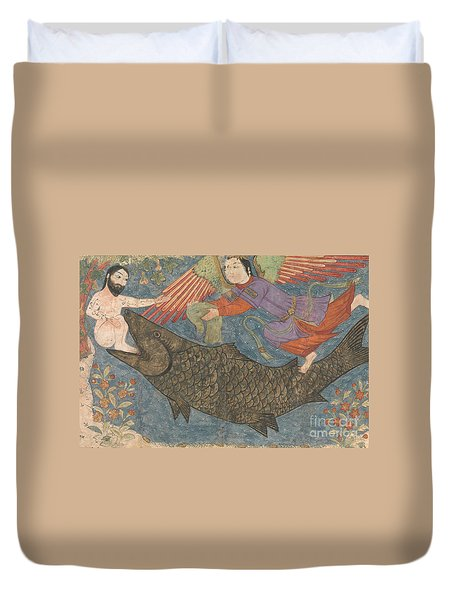 Jonah And The Whale Duvet Cover