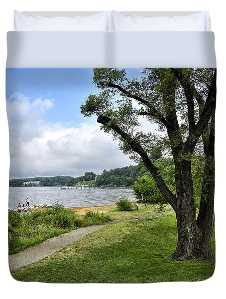 Jonas Green State Park - Annapolis Maryland Duvet Cover by Brendan Reals