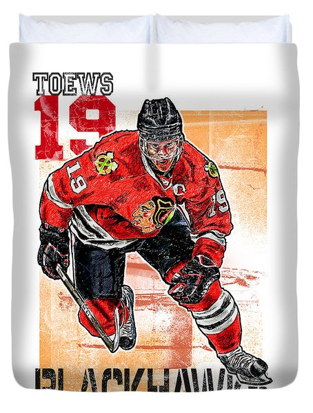 Jonathan Toews Duvet Cover