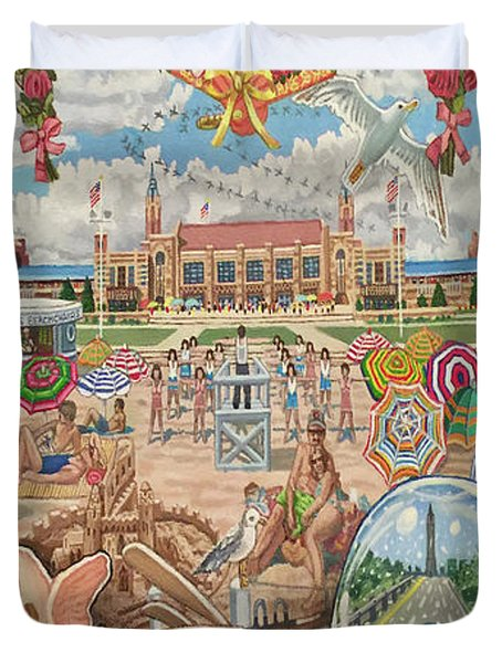 Jones Beach Love Story Towel Version Duvet Cover