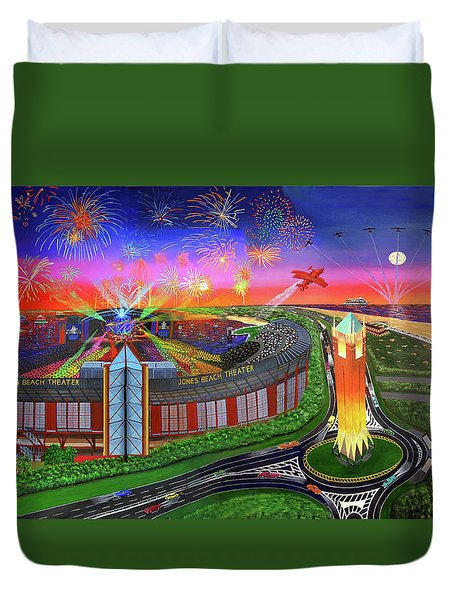 Jones Beach Theatre Duvet Cover