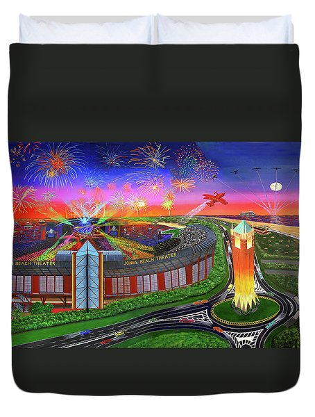 Jones Beach Theatre Towel Version Duvet Cover