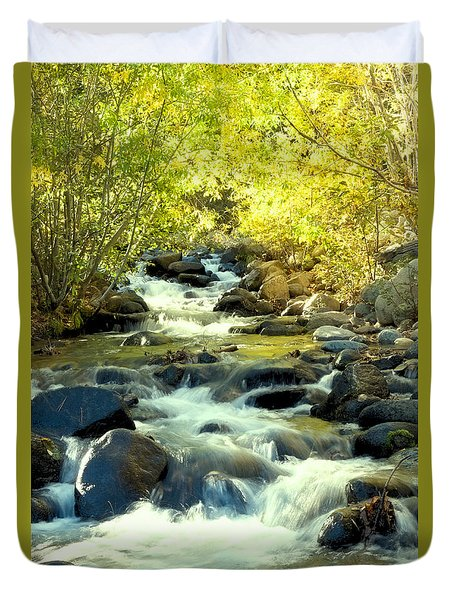 Duvet Cover featuring the photograph Jones Creek In Fall by Vinnie Oakes