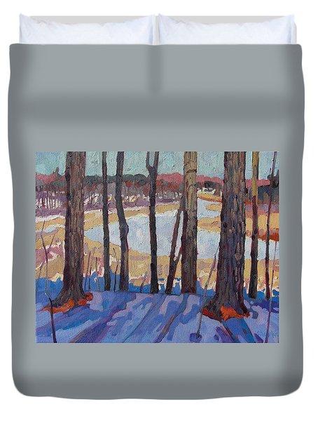 Jones Creek Morning Duvet Cover by Phil Chadwick