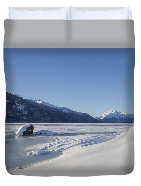 Jones Point In Winter Duvet Cover