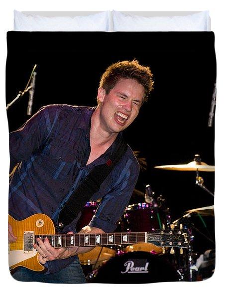 Jonny Lang Rocks His 1958 Les Paul Gibson Guitar Duvet Cover