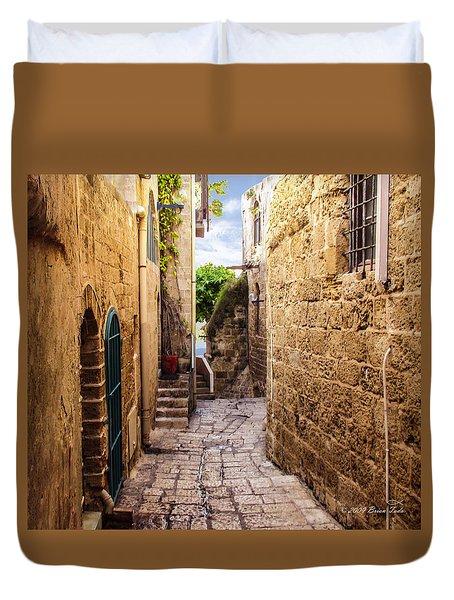 Joppa Israel Passageway Duvet Cover