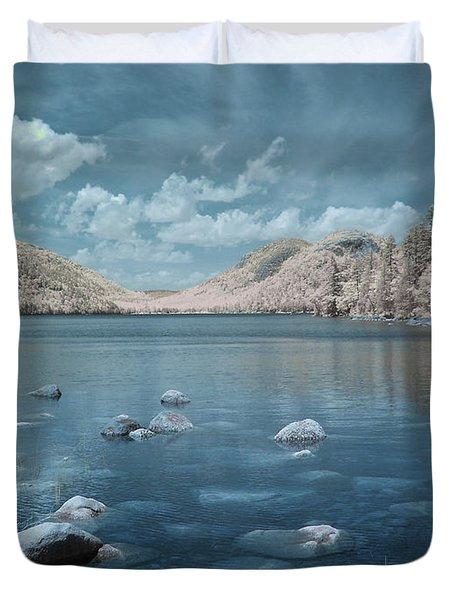 Jordan Pond Blue Duvet Cover