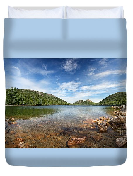 Jordan Pond Panorama Duvet Cover