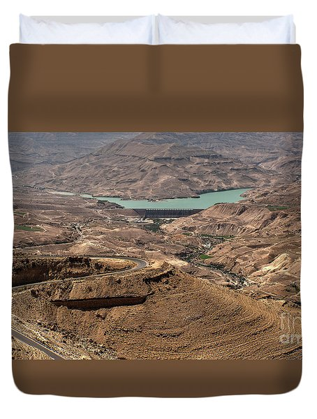 Duvet Cover featuring the photograph Jordan River by Mae Wertz