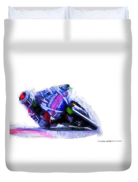 Jorge Lorenzo Yamaha Duvet Cover