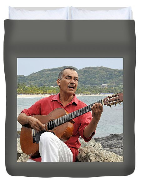 Duvet Cover featuring the photograph Jose Luis Cobo by Jim Walls PhotoArtist