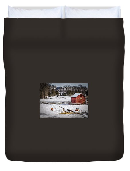 Duvet Cover featuring the photograph Joseph Oregon by Cat Connor