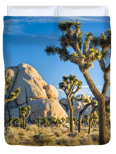 Joshua Tree And Intersection Rock Duvet Cover